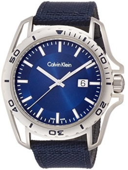 Calvin Klein Herren Analog Quarz Uhr mit Stoff Armband K5Y31UVN - 1