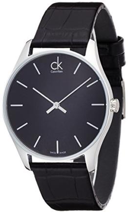 Calvin Klein Herren-Armbanduhr Analog Quarz Leder K4D211C1 - 1
