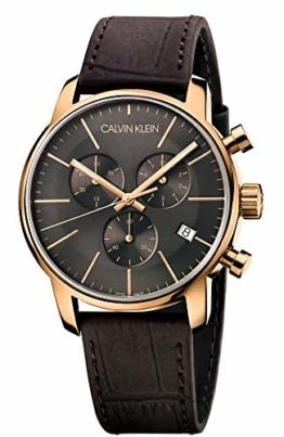 Calvin Klein Herren-Armbanduhr Chronograph Quarz Leder K2G276G3 - 1