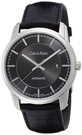 Calvin Klein Herren Armbanduhr Digital Automatik Leder K5S341C1 - 1