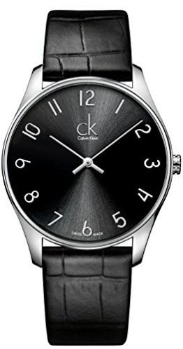 Calvin Klein Herren-Armbanduhr XL ck classic Analog Quarz Leder K4D211CX - 1