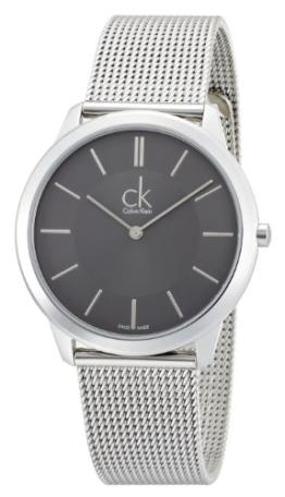 Calvin Klein Herren-Armbanduhr XL minimal Analog Quarz Edelstahl K3M21124 - 1