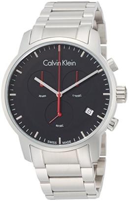 Calvin Klein Herren Chronograph Quarz Uhr mit Edelstahl Armband K2G27141 - 1
