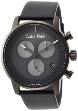 Calvin Klein Herren Chronograph Quarz Uhr mit Leder Armband K2G177C3 - 1