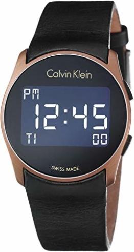 Calvin Klein Herren Digital Quarz Uhr mit Gummi Armband K5B13YC1 - 1
