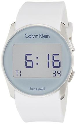 Calvin Klein Herren Digital Quarz Uhr mit Gummi Armband K5B23UM6 - 1