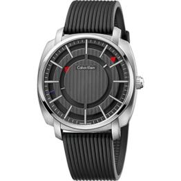 Calvin Klein Herren Digital Quarz Uhr mit Gummi Armband K5M3X1D1 - 1