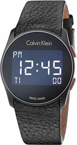 Calvin Klein Herren Digital Quarz Uhr mit Leder Armband K5B13XC1 - 1