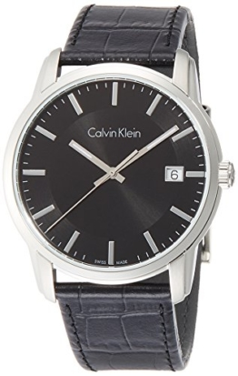 Calvin Klein Herren Digital Quarz Uhr mit Leder Armband K5S311C1 - 1