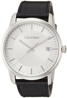 Calvin Klein Herren Digital Quarz Uhr mit Leder Armband K5S311C6 - 1