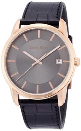 Calvin Klein Herren Digital Quarz Uhr mit Leder Armband K5S316C3 - 1