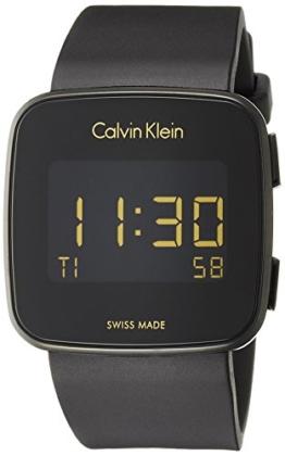Calvin Klein Herren Digital Uhr mit Silikon Armband K5C214D1 - 1