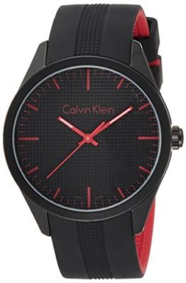 Calvin Klein Unisex-Armbanduhr Analog Quarz Kautschuk K5E51TB1 - 1