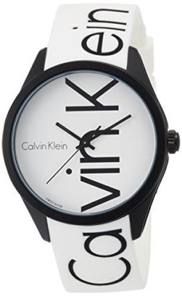 Calvin Klein Unisex-Armbanduhr Analog Quarz One Size, weiß - 1