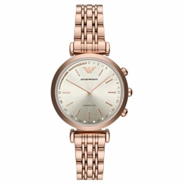 Emporio Armani Damen Analog Quarz Smart Watch Armbanduhr mit Edelstahl Armband ART3026 - 1