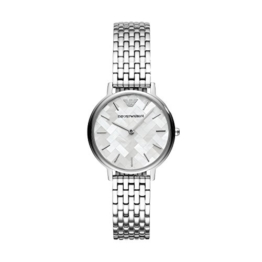 Emporio Armani Damen Analog Quarz Uhr mit Edelstahl Armband AR11112 - 1