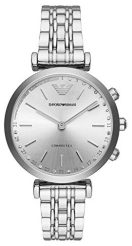 Emporio Armani Damen Analog Quarz Uhr mit Edelstahl Armband ART3018 - 1