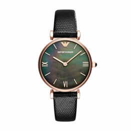 Emporio Armani Damen Analog Quarz Uhr mit Leder Armband AR11060 - 1