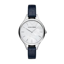 Emporio Armani Damen Analog Quarz Uhr mit Leder Armband AR11090 - 1