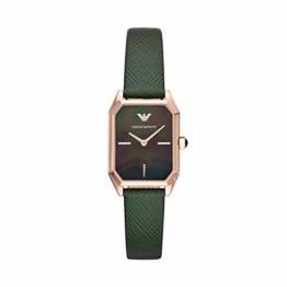 Emporio Armani Damen Analog Quarz Uhr mit Leder Armband AR11149 - 1