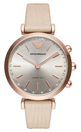 Emporio Armani Damen Analog Quarz Uhr mit Leder Armband ART3020 - 1