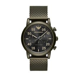 Emporio Armani Herren Analog Quarz Uhr mit Edelstahl Armband AR11115 - 1