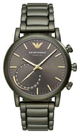 Emporio Armani Herren Analog Quarz Uhr mit Edelstahl Armband ART3015 - 1