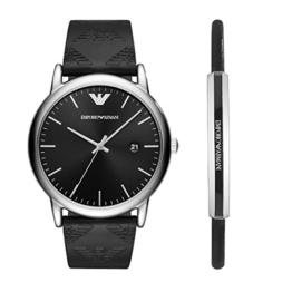 Emporio Armani Herren Analog Quarz Uhr mit Leder Armband AR80012 - 1