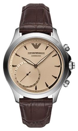 Emporio Armani Herren Analog Quarz Uhr mit Leder Armband ART3014 - 1
