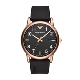 Emporio Armani Herren Analog Quarz Uhr mit Silikon Armband AR11097 - 1