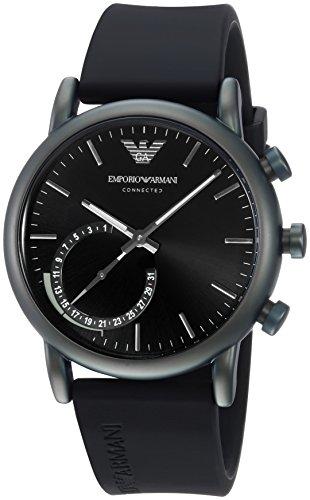 Emporio Armani Herren Analog Quarz Uhr mit Silikon Armband ART3016 - 1