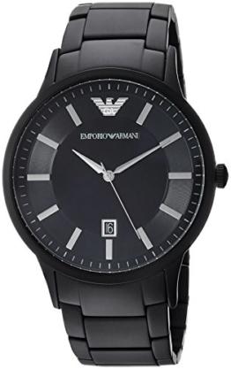 Emporio Armani Herren-Armbanduhr Quarz One Size, schwarz, schwarz - 1
