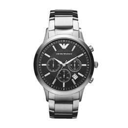 Emporio Armani Herrenuhr Metallband Uhr Chronograph Quarzwerk mit Edelstahl Armband AR2434 - 1
