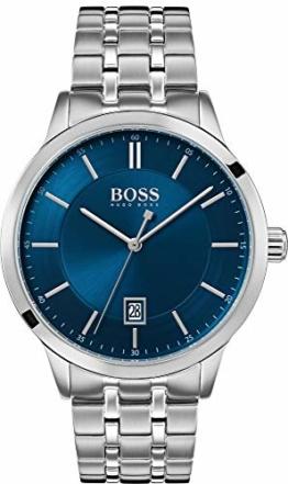 Hugo Boss 1513615 OFFCR Uhr Herrenuhr Edelstahl 3 bar Analog Silber - 1