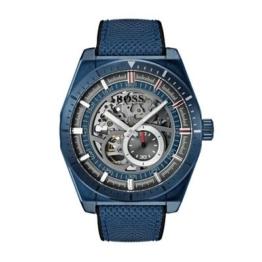 Hugo Boss automatik Herren Uhr 1513645 Skelettuhr Blau