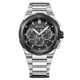 Hugo Boss Chronograph Uhr Herrenuhr Edelstahl Chrono Datum Silber 1513359