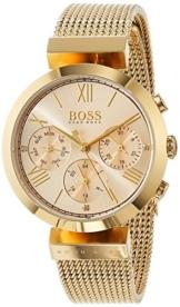 Hugo BOSS Damen Analog Quarz Uhr mit Edelstahl Armband 1502425 - 1
