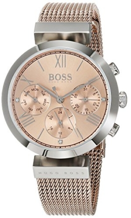 Hugo BOSS Damen Analog Quarz Uhr mit Edelstahl Armband 1502426 - 1