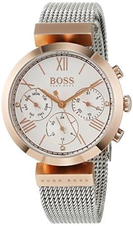 Hugo BOSS Damen Analog Quarz Uhr mit Edelstahl Armband 1502427 - 1