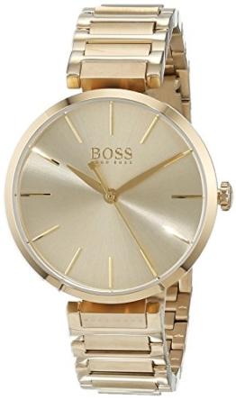 Hugo BOSS Damen Datum klassisch Quarz Uhr mit Edelstahl Armband 1502415 - 1