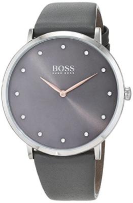 Hugo BOSS Damen Datum klassisch Quarz Uhr mit Leder Armband 1502413 - 1