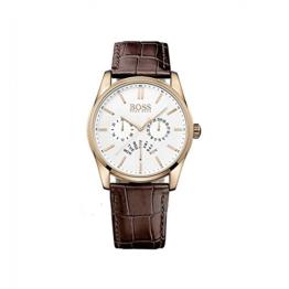 Hugo Boss Herren Analog Quarz Uhr mit Leder Armband 1513125 - 1