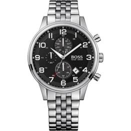 Hugo Boss Herren-Armbanduhr Analog Quarz Edelstahl 1512446 - 1