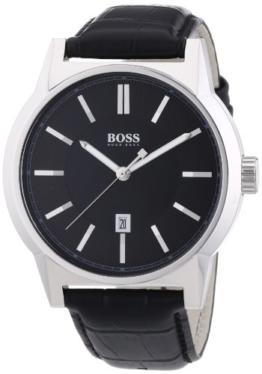 Hugo Boss Herren-Armbanduhr ARCHITECTURE ROUND Analog Quarz Leder 1512911 - 1