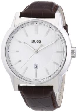 Hugo Boss Herren-Armbanduhr ARCHITECTURE ROUND Analog Quarz Leder 1512912 - 1