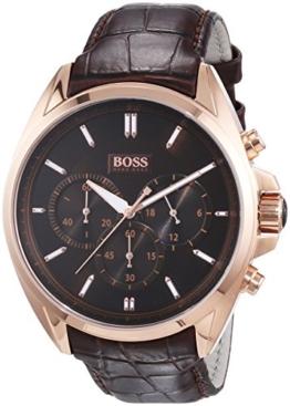 Hugo Boss Herren-Armbanduhr XL Driver Chronograph Quarz Leder 1513036 - 1