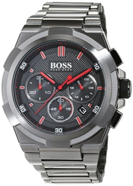 Hugo BOSS Herren Chronograph Quarz Uhr mit Edelstahl Armband 1513361 - 1