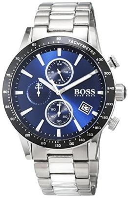 Hugo BOSS Herren Chronograph Quarz Uhr mit Edelstahl Armband 1513510 - 1