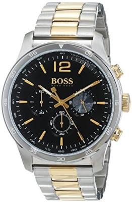 Hugo BOSS Herren Chronograph Quarz Uhr mit Edelstahl Armband 1513529 - 1