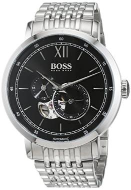Hugo BOSS Herren Datum klassisch Automatik Uhr mit Edelstahl Armband 1513507 - 1